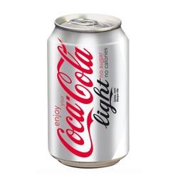 Blikje coca cola light.